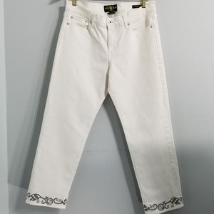 Lucky Brand White sweet crop pants 14/32